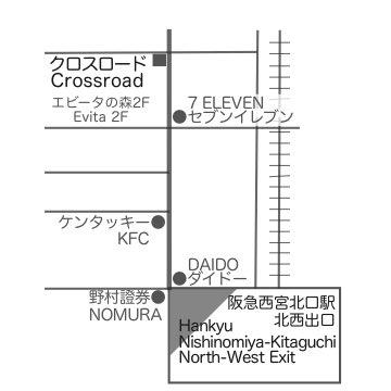 クロスロード教会の地図